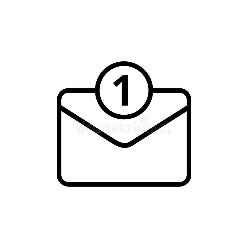 Unread mail icon royalty free illustration