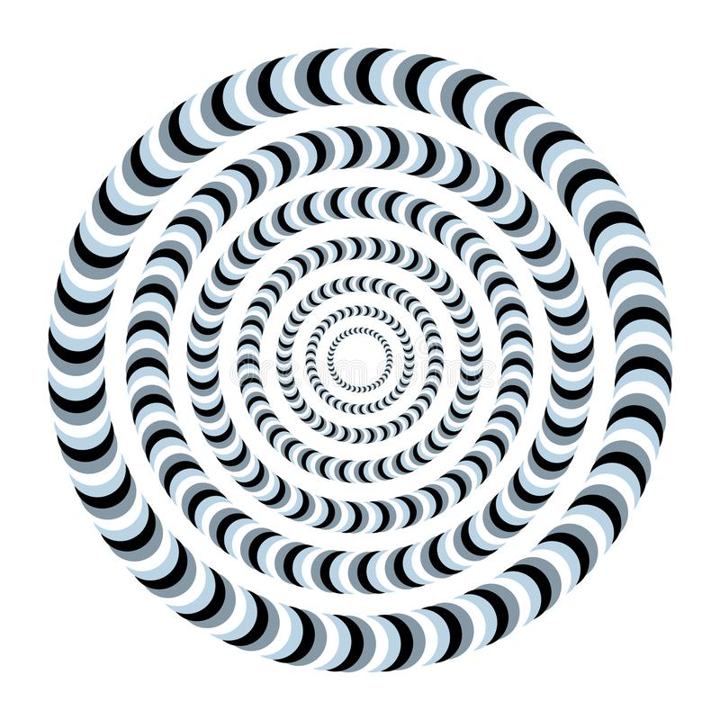 Free Unreal And Hypnotic Optical Illusion. Creative Trick And Nystagmus Vector Illustration. Royalty Free Stock Photo - 114756665