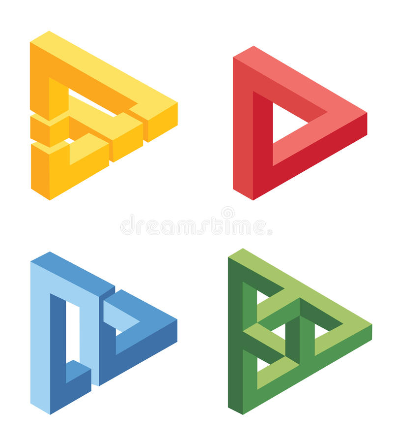 Unreal bright geometrical objects. On white vector illustration