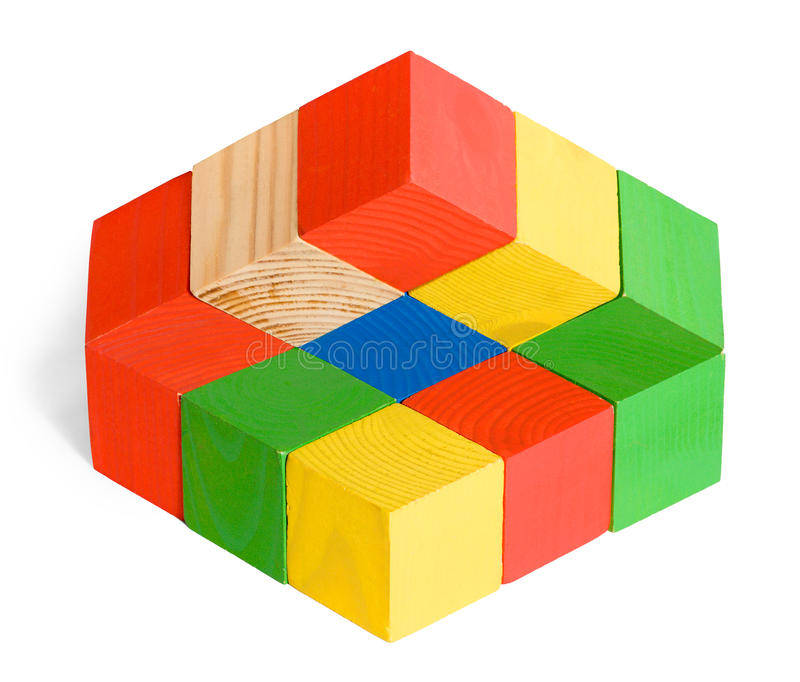 Download Unreal Cubes Construction, Illusion Stock Image - Image: 26972807