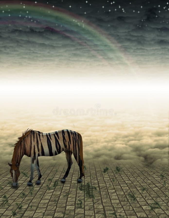 Download Unreal Horse in landscape stock illustration. Image of life - 15892924