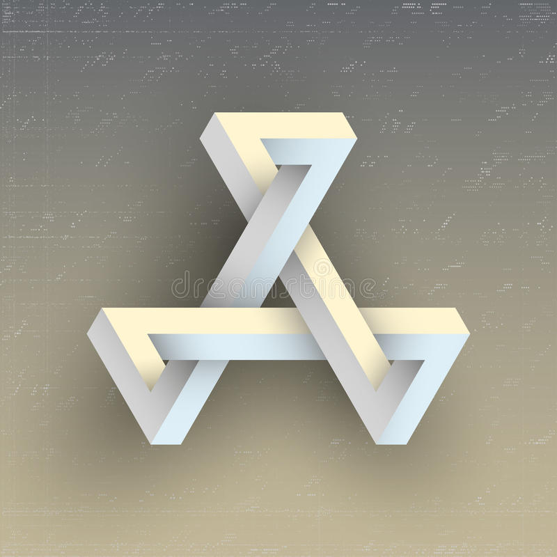 Unreal impossible geometric figure, vector element. For design stock illustration