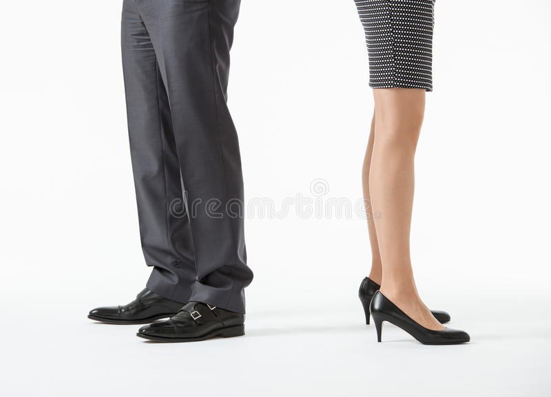 Unrecognizable business people's legs stock photo