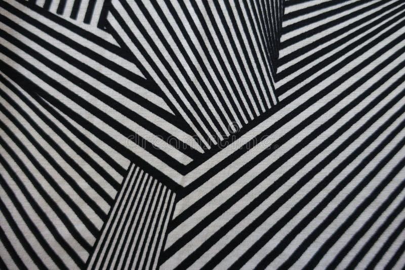 Unregelmäßiger geometrischer Druck auf Gewebe stockfotografie
