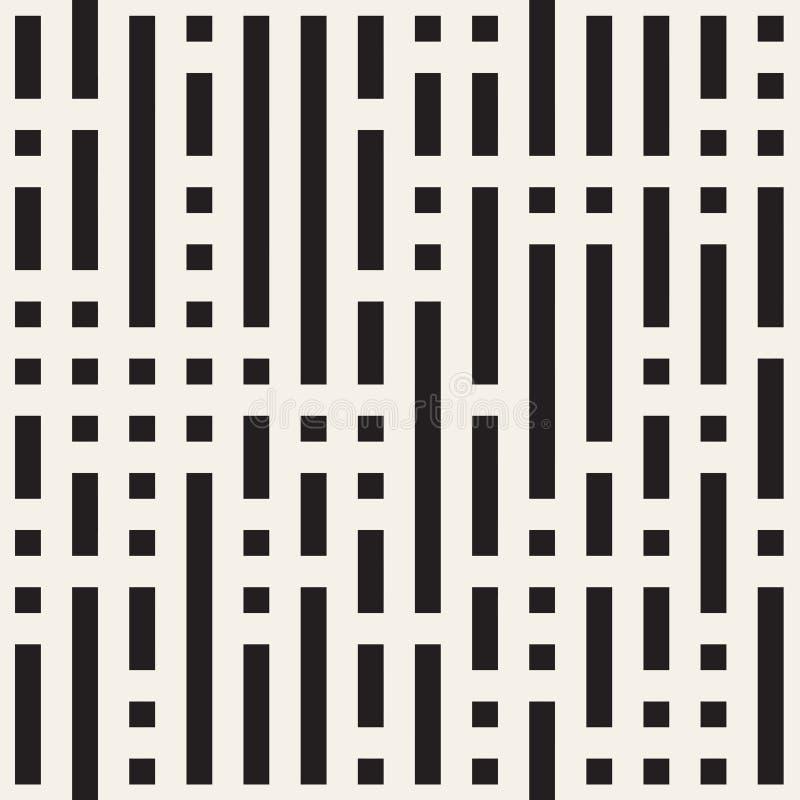 Unregelmäßiges Maze Shapes Tiling Contemporary Graphic-Design Vektornahtloses Schwarzweiss-Muster vektor abbildung