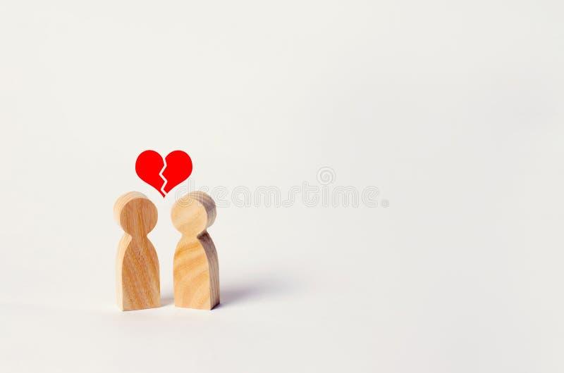 Unrequited förälskelse Förälskad kassering av erkännande Vägran av förbindelse, avbrott av förbindelse broken hjärta invecklat royaltyfri foto