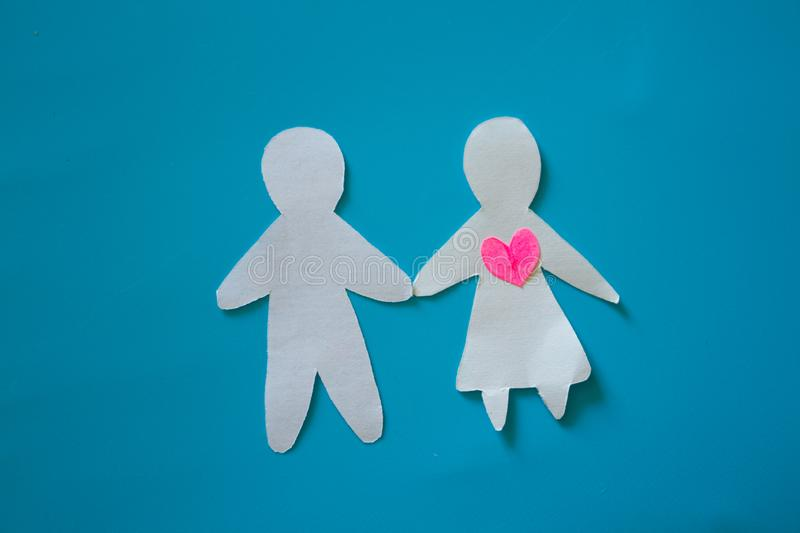 Unrequited love concept stock images