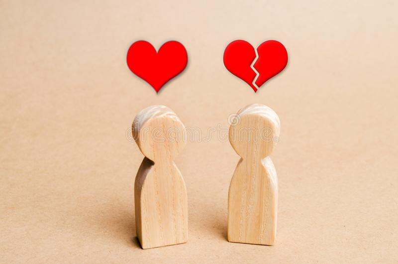 Unrequited miłość Odrzucenie rozpoznanie w miłości Odmowa powiązania, przerwa powiązania złamane serce Skomplikowany relationshi obraz royalty free