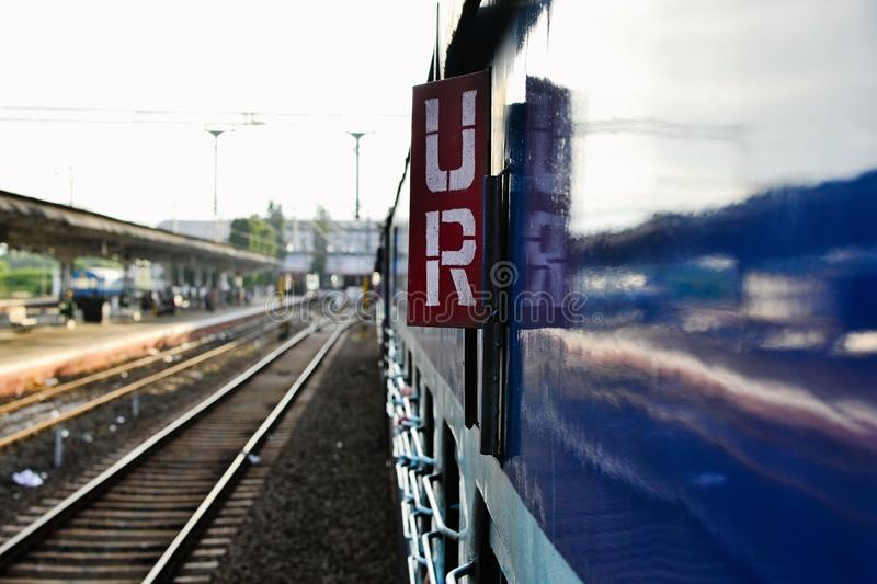 Unreserved seats sign on the rail car royalty free stock images