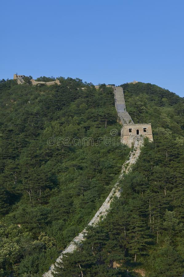 Unrestored section of the Great Wall of China, Zhuangdaokou, Beijing, China stock images