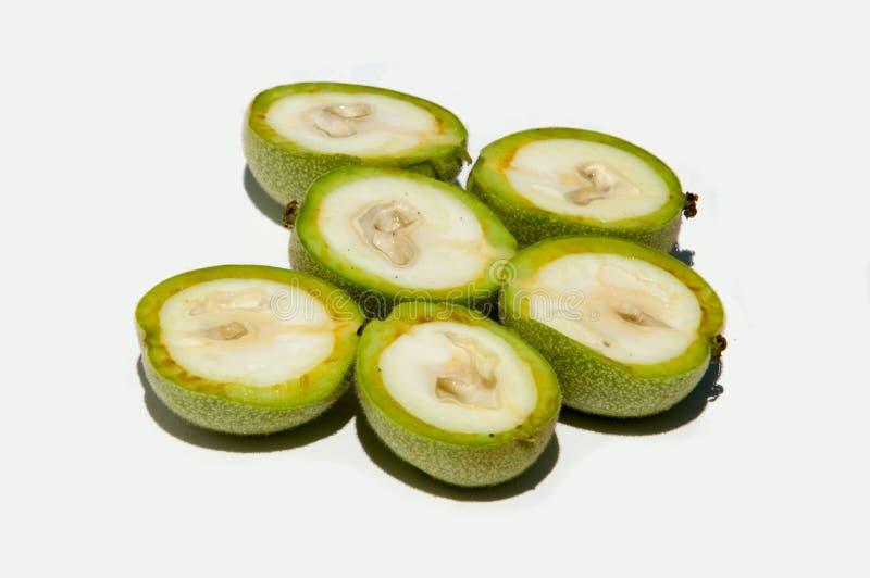 unripe ξύλα καρυδιάς walnut στοκ εικόνες