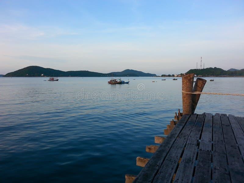 Sunrise. Pier seaview bluewater stock photos