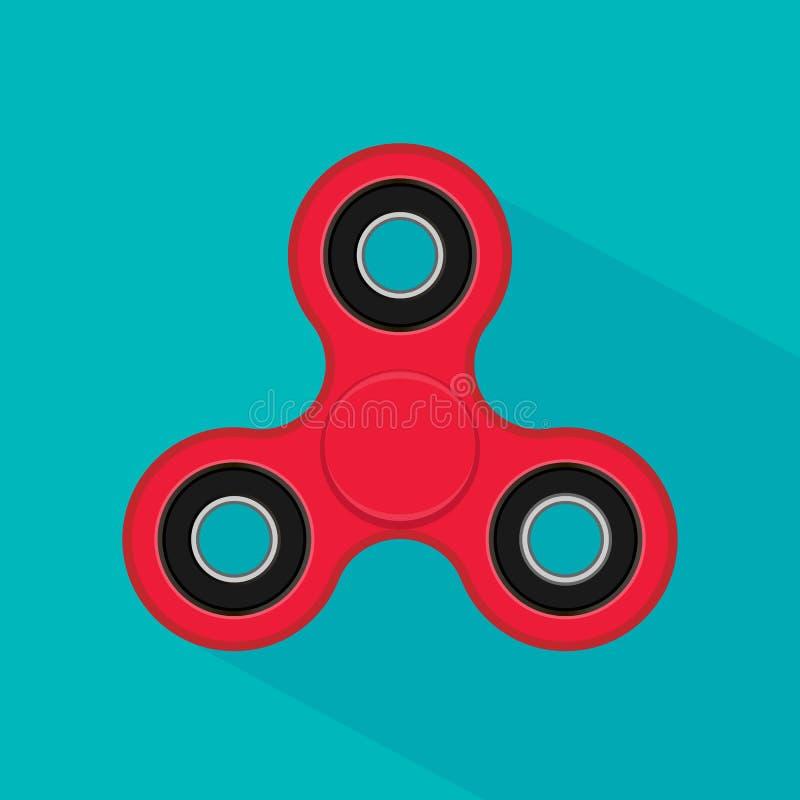 Unruhefinger-Spinnerdruck, Angstentlastungsspielzeug Handspinnerikone auf weißem Hintergrund vektor abbildung