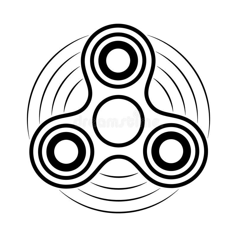 Unruhespinner-Konturnikone Antistress Spielzeug der Handrotation für entspannen sich Torsionsflitter zur Herstellung von Tricks lizenzfreie abbildung