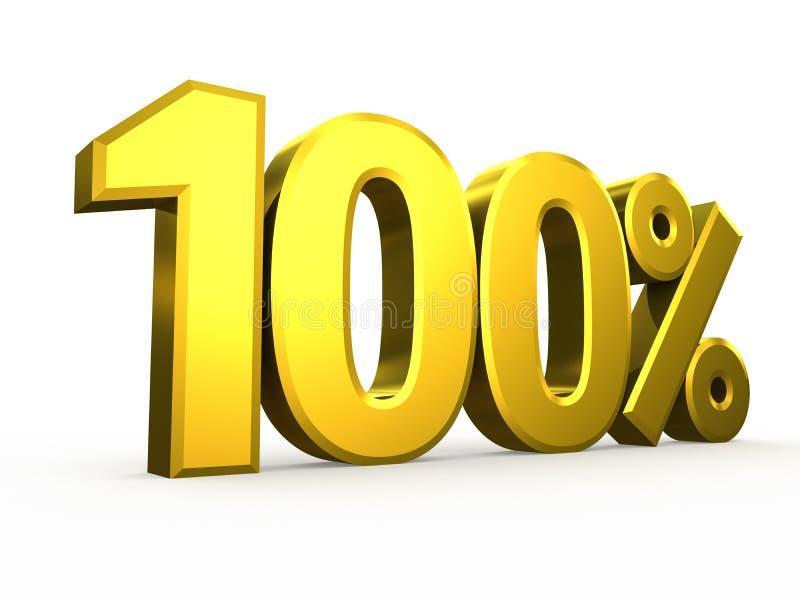 Uns cem símbolos de nove por cento no fundo branco ilustração stock