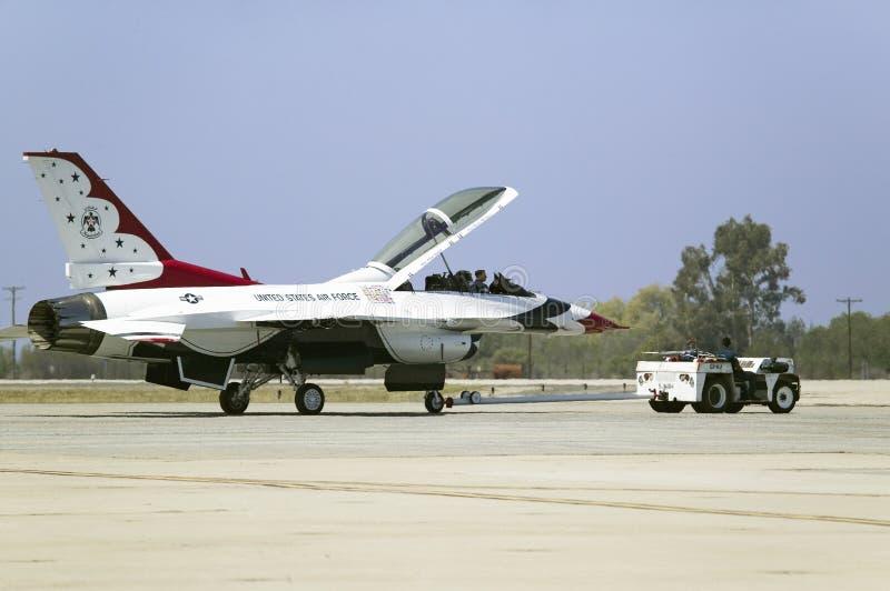Uns Falcons de combate de F-16C, imagem de stock royalty free