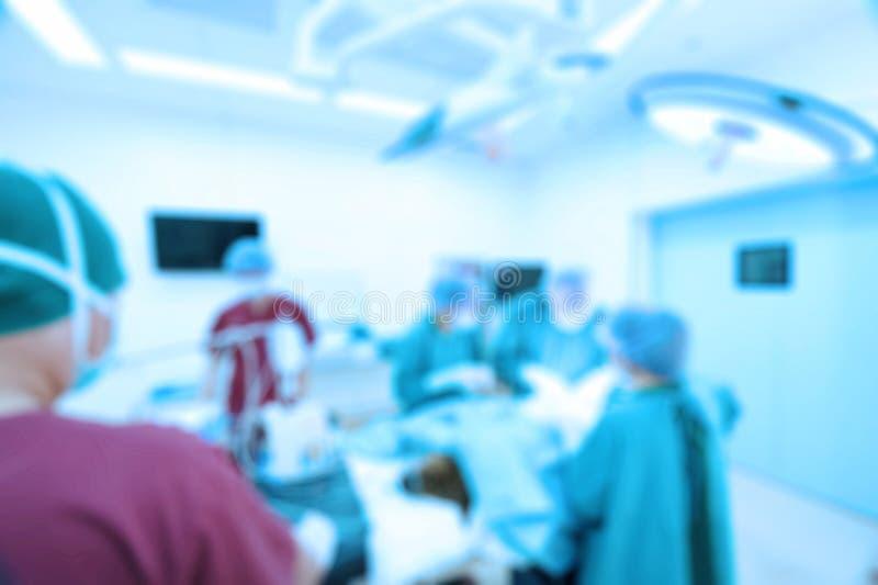Unschärfe der Gruppe Raumes der tierärztlichen Chirurgie in Kraft lizenzfreies stockbild