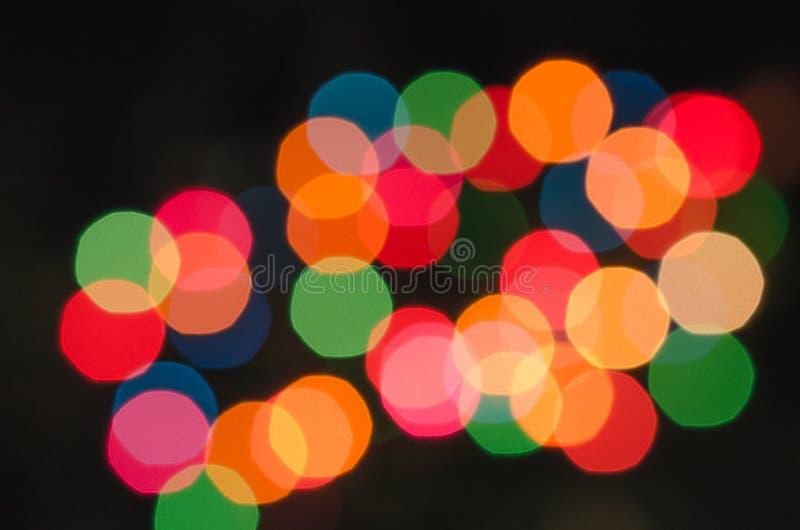 Unschärfe des Lampe bokeh Zusammenfassungshintergrundes stockfotos