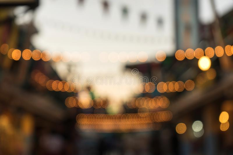 Unschärfebild und -licht stockfotografie
