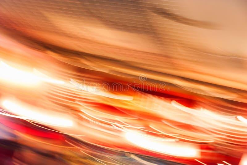 Unscharfe defocused orange Lichter für abstrakten Hintergrund stockfoto