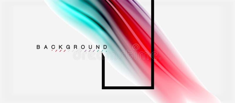Unscharfe Flüssigkeit färbt Hintergrund, Zusammenfassungswellenlinien, Vektorillustration lizenzfreie abbildung