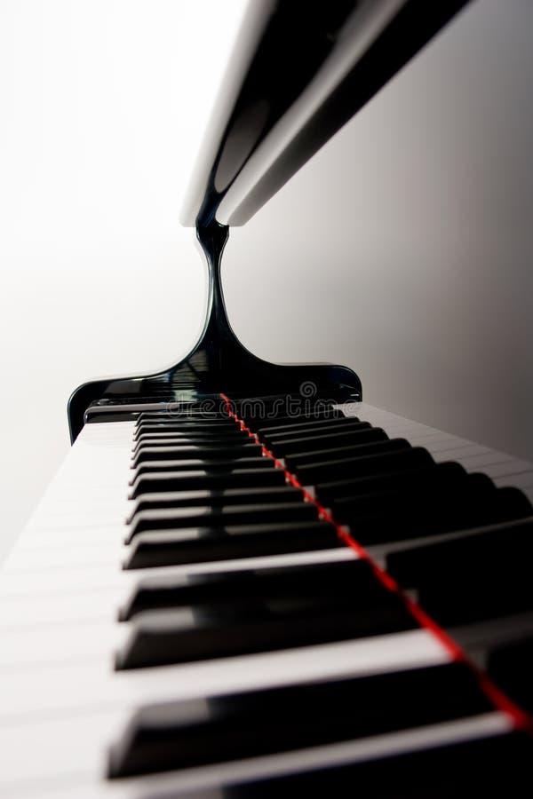 Unscharfe Klavier-Tasten stockfotos