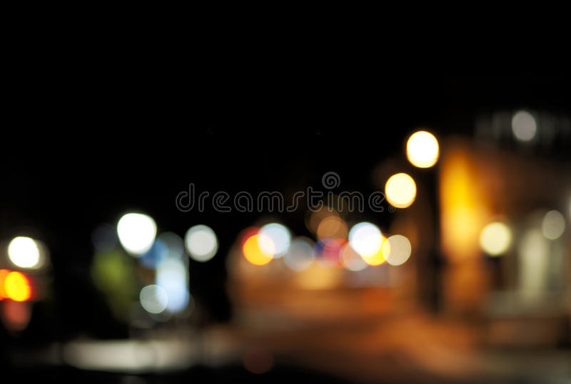 Unscharfe Leuchten der Stadt lizenzfreie stockbilder