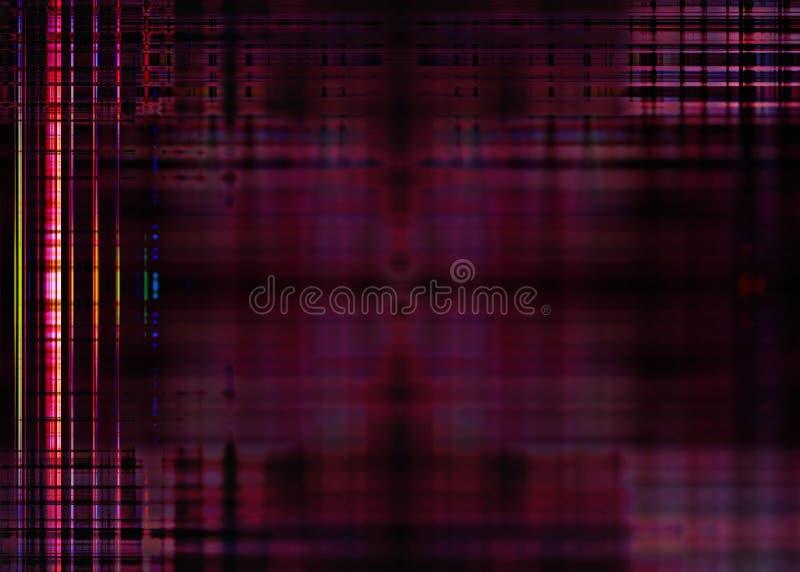 Unscharfe Lichter auf einem purpurroten Hintergrund vektor abbildung