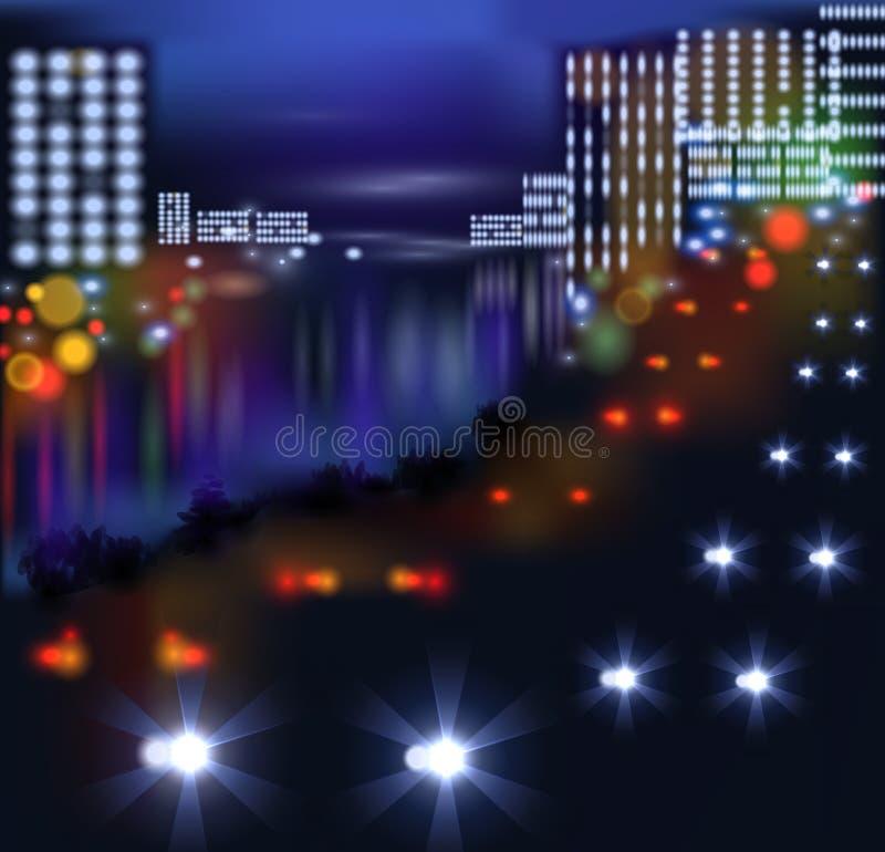 Unscharfe Lichter in der Stadtnacht Auch im corel abgehobenen Betrag lizenzfreie abbildung