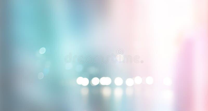 Unscharfe Pastell- und bunte städtische Gebäudehintergrundszene stockbild