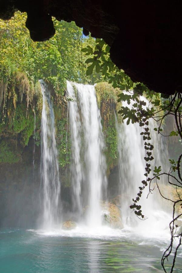 Unscharfe Wasserfälle von Duden-Park stockfotografie