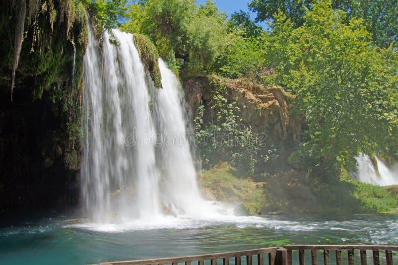 Unscharfe Wasserfälle von Duden-Park lizenzfreies stockfoto