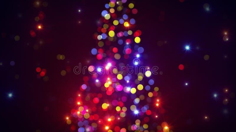 Unscharfe Weihnachtsbaumleuchten lizenzfreie abbildung
