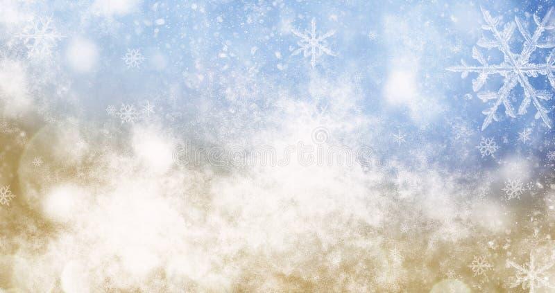unscharfer bokeh Hintergrund von Weihnachtslichtern und -schneeflocken stockbilder