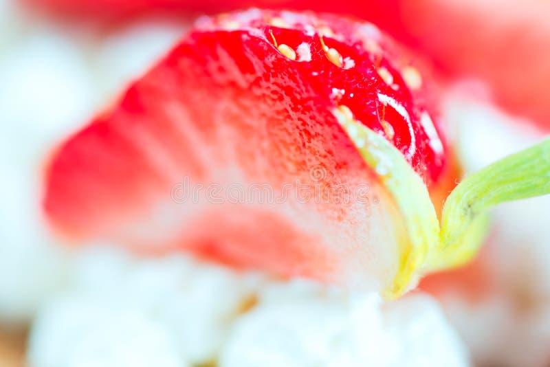 Unscharfer Erdbeerehintergrund lizenzfreie stockbilder