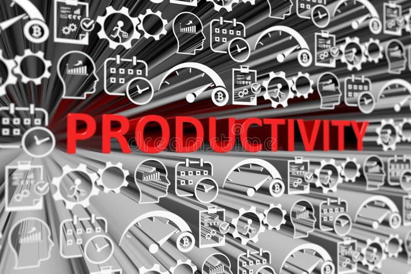 Unscharfer Hintergrund der PRODUKTIVITÄT Konzept stock abbildung