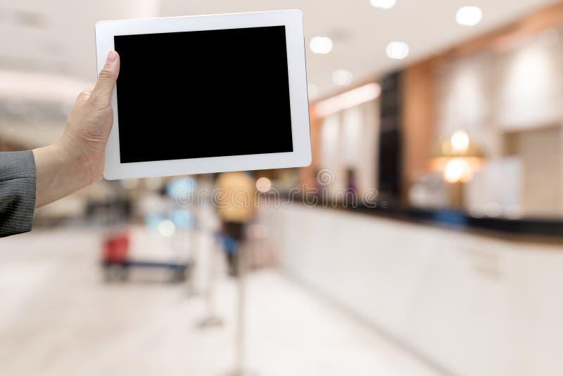 Unscharfer Hintergrund des Hotels Lobby stockfotos