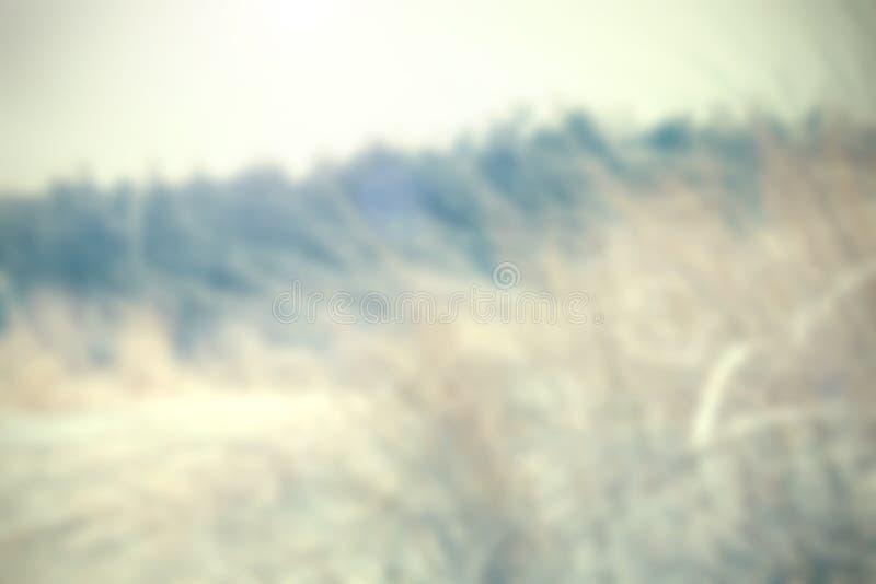 Unscharfer Naturhintergrund in der Retro- Querfarbart stockfoto