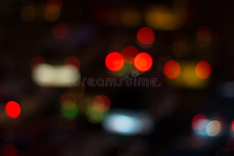 Unscharfes Bild von Lichtern stockbild
