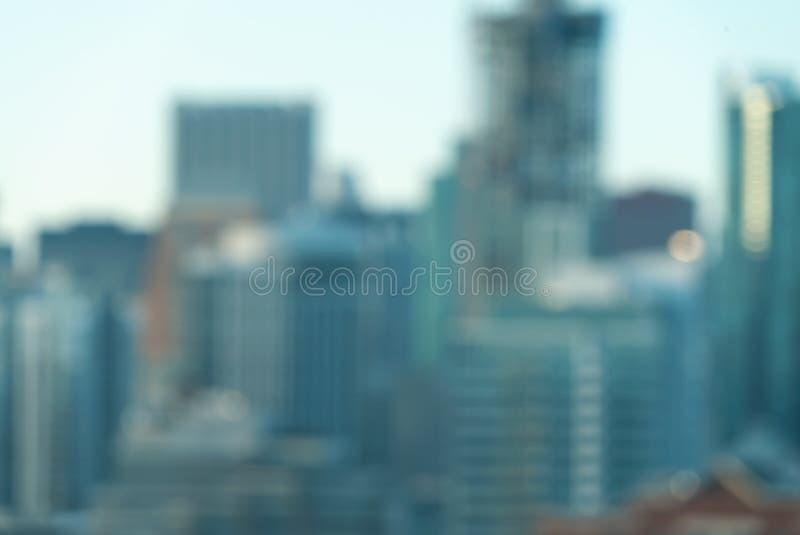 Unscharfes bokeh Chicago-Zusammenfassungsstadtbild lizenzfreie stockfotos