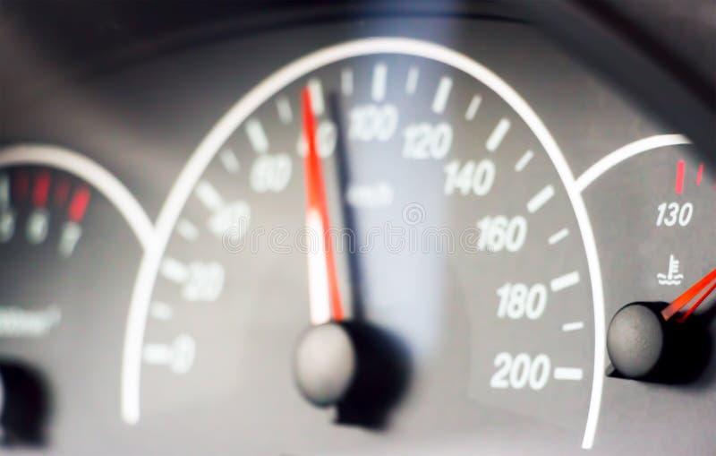 Unscharfes Foto des Geschwindigkeitsmessers lizenzfreie stockfotografie