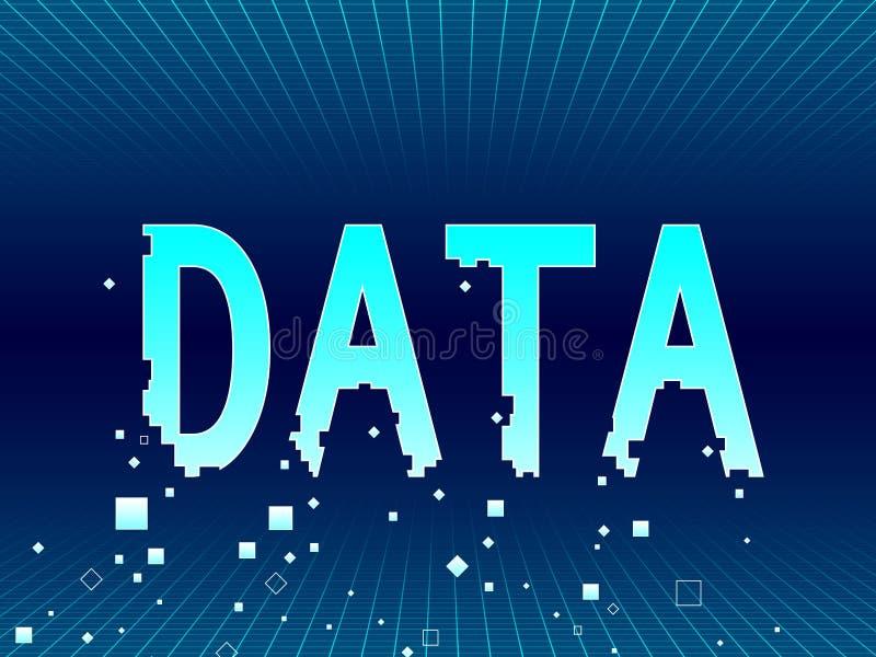 Unsecure dataförlust vektor illustrationer
