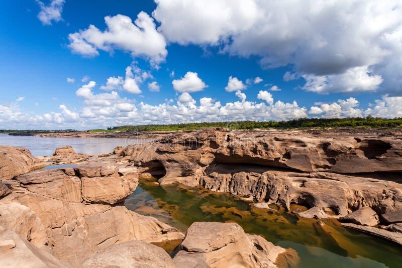 Unseen de steencanion van Thailand in Sam Pan Bok in Mae Kong-rivier stock foto