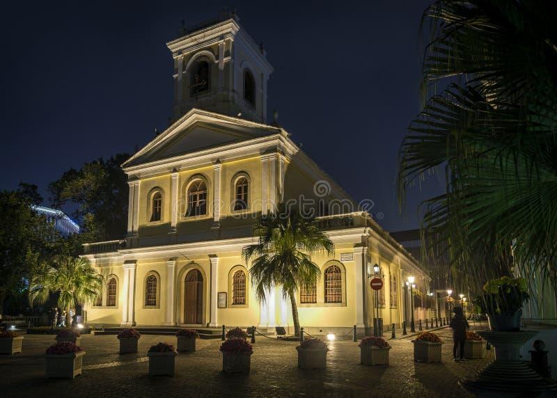 Unsere Dame der Carmo-Marksteinkirche in taipa Macao-Porzellan stockfoto