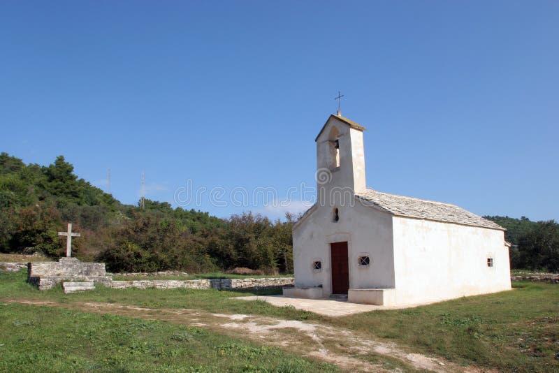 Unsere Dame der Feld-Kapelle in Blato, Kroatien stockbild
