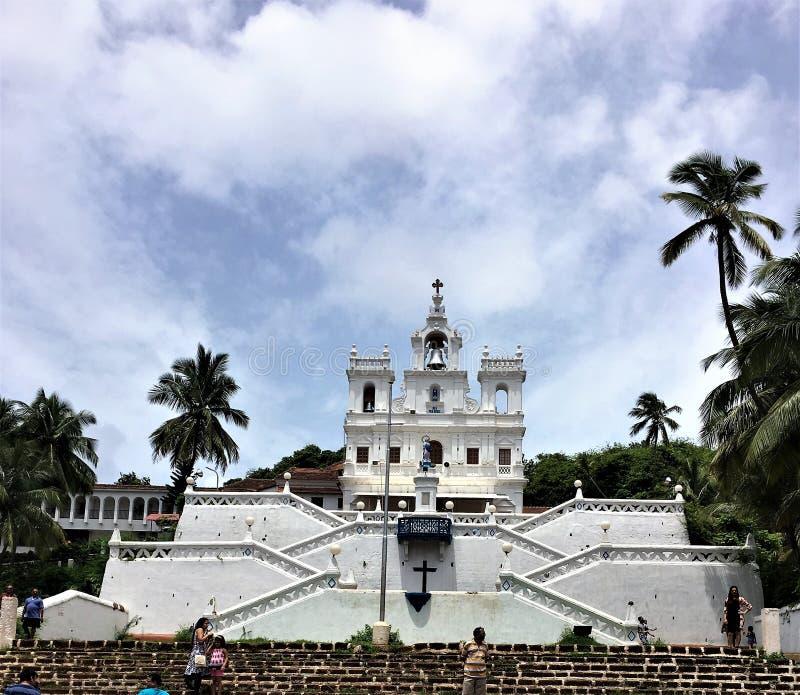 Unsere Dame der Kirche der Unbefleckten Empfängnis, Panjim, Goa stockbilder