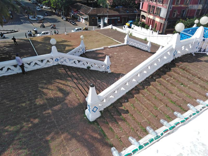 Unsere Dame der Kirche der Unbefleckten Empf?ngnis in Panjim Panaji, Goa, Indien lizenzfreies stockfoto