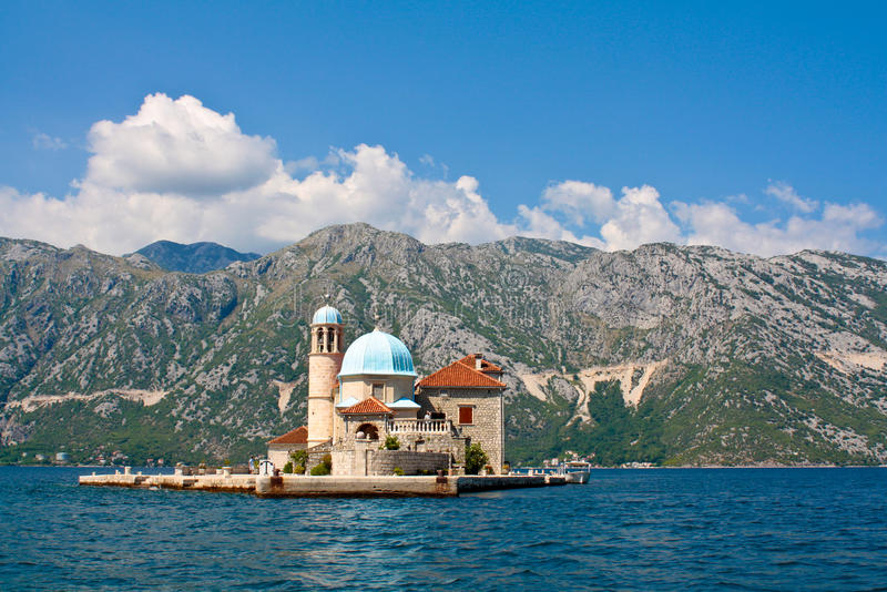 Unsere Dame des Felsens, Montenegro, Perast lizenzfreies stockbild