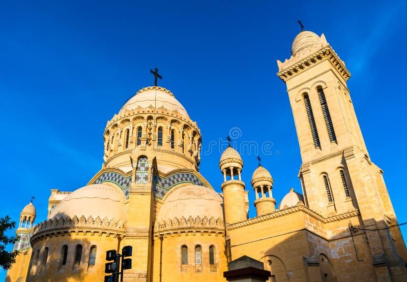 Unsere Dame von Afrika-Basilika in Algier, Algerien lizenzfreie stockfotos