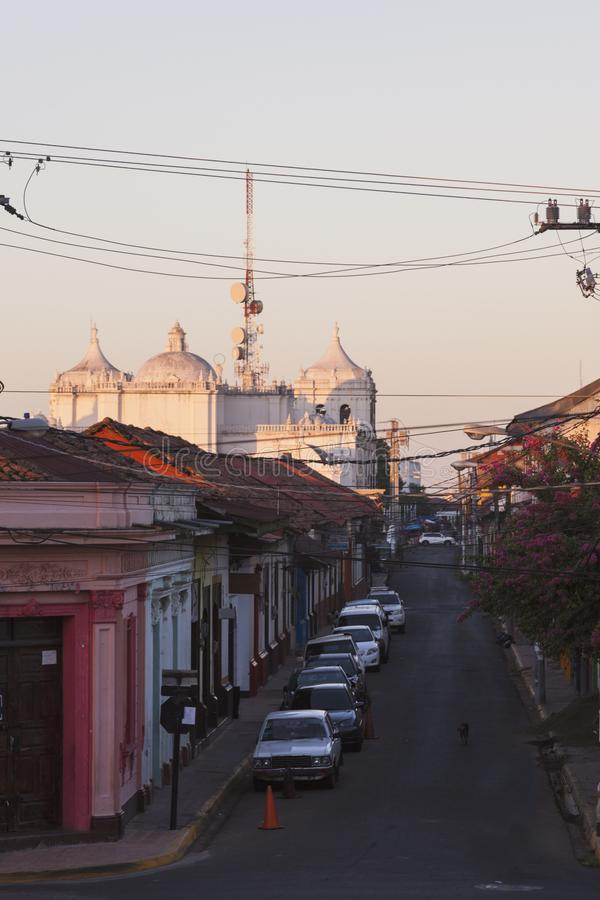 Unsere Dame von Grace Cathedral in Leon, Nicaragua lizenzfreies stockbild
